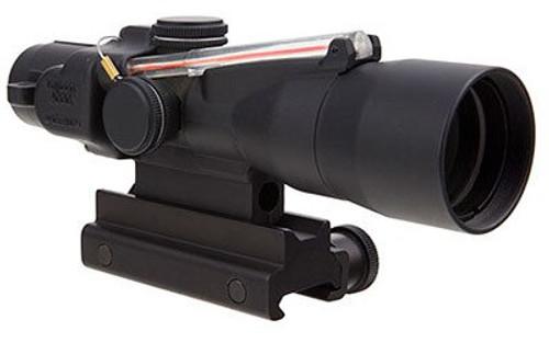 Trijicon 3x30 Compact ACOG Scope Dual Illuminated Red Chevron 7.62x51mm/175gr. Ballistic Reticle, Colt Knob Thumbscrew Mount