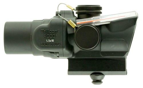 Trijicon ACOG 1.5x16S 1.5x 16mm Obj 39 ft @ 100 yds FOV Black Dual Illum