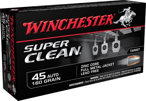Winchester Super Clean 45 ACP, 165gr, FMJ, 50rd/Box