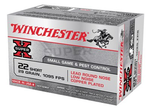 Winchester Super-X 22 Short 29gr, Lead Round Nose, 50rd Box