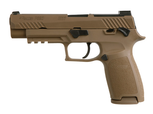"""Sig P320-M17 9MM 4.7"""" Barrel Manual Safety, Night Sight Plate, 2- 17rd Mags"""