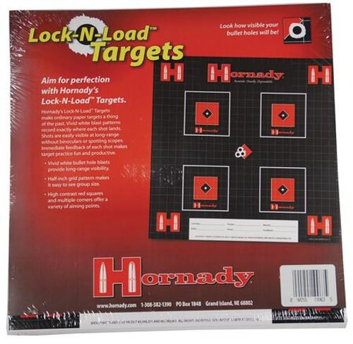 "Hornady Lock-N-Load Paper Targets .5"" Grid Pattern 100 Per Pack"