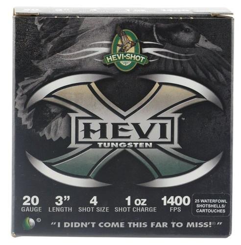 "HEVI-Shot Hevi-X Waterfowl 20 Ga, 3"", 1oz, 4 Shot, 25rd/Box"