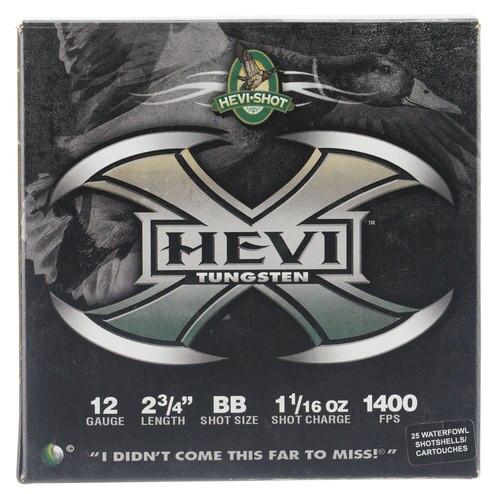 "HEVI-Shot Hevi-X Waterfowl 12 Ga, 2.75"", 1-1/16oz, BB Shot, 25rd/Box"