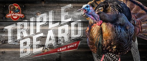 "HEVI-Shot Triple Beard Turkey 12 Ga, 3.5"", 2-1/4oz, 5,6,7 Shot 10rd/Box"