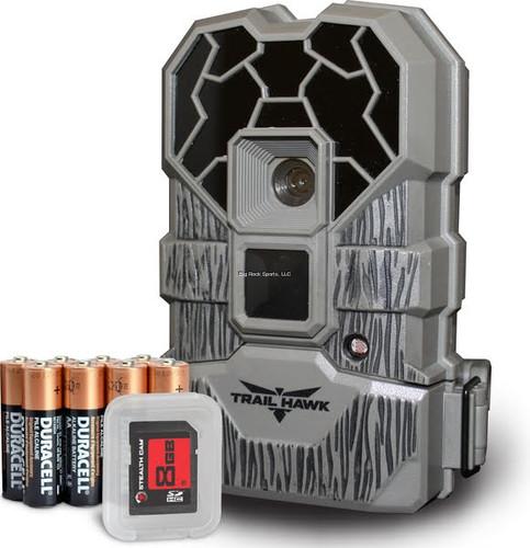 Stealth Cam Trail Hawk Trail Camera, 20MP No Glo Camera,, Batt, 8GB SD Card