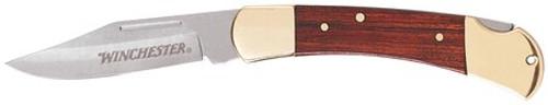 "Gerber Winchester 3.25"" Brass Folder - Leather Sheath, Folding Sheath Knives"