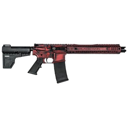 """Black Rain SPEC15 Pistol, 556, 10.5"""" Barrel, Dead Red Finish, Shockwave Blade, BRO MFR Master Key, 30rd Mag"""