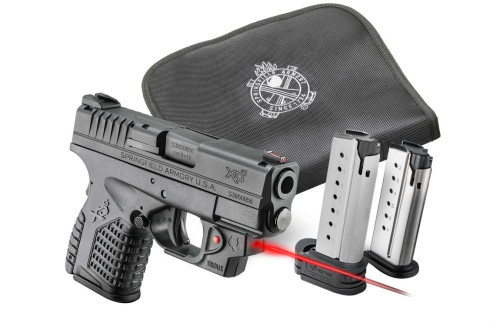 """Springfield XD-S 45 Conceal Kit W/Laser 3.3"""" Barrel Viridian Red Laser, Notebook Holster & 2 Mags"""