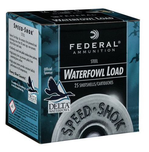 "Federal Speed-Shok 12 Ga, 2.75"", 1-1/8oz, BB Shot, 25rd/Box"