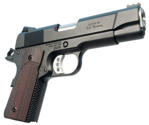 "Ed Brown CCO LW 1911 9mm, 4.25"" Barrel, FOF Black VZ Grip, Black Gen4 Stainless Steel, 8rd"