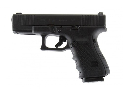 Glock 19 G4, 9mm, Front Slide Serrations, Extended Controls, Night Sights, 15rd