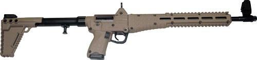 """Keltec Sub-2000 9mm Beretta 92 Mags 16"""" Barrel Tan 17 rd Mag"""