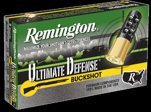 "Remington HD Ultimate Home Defense Shotshell Loads Buckshot 12 Gauge, 2.75"", 9 Pellets 00 Buckshot"