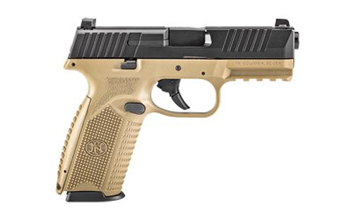 FN 509 NMS 9mm, Flat Dark Earth, No-Manual Safety,Black, 10rd