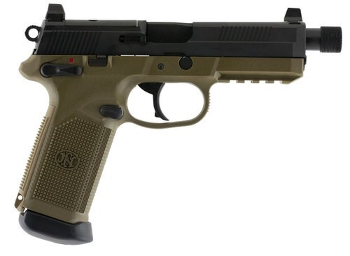 FN FNX45 Tactical 45 ACP, MS, NS, Flat Dark Earth and Black LE, 15rd