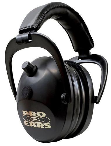Pro Ears Gold II Electronic Earmuff, NRR26, Black