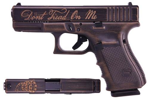 "Glock 19 Gen 4 Don't Tread On Me Special Edition 9mm 4"" Barrel Cerakote 3- 15rd Mags"