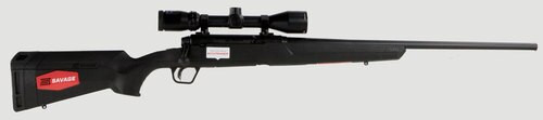 "Savage Axis II XP 22-250 Remington, With 3X9X40 Scope,, 22"" Barrel, 4+1, Synthetic, Black"