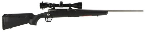 """Savage Axis XP 22-250 Remington, With 3X9X40 Scope, 22"""" Barrel, Stainless Steel, 4+1, Synthetic, Black"""