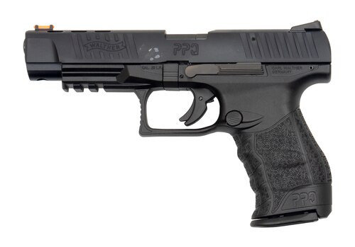 "Walther PPQ M2 .22 L.R. 5"" Black 12 Round, Fiber Optic Front Sight 1 Mag, BLEM"
