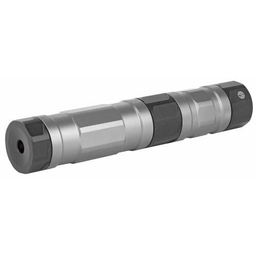 SilencerCo, Switchback 22, Rimfire Suppressor, 22LR/17HMR/22MAG/5.7MM, 1/2X28, Stainless Steel Baffles, Raw Titanium Finish