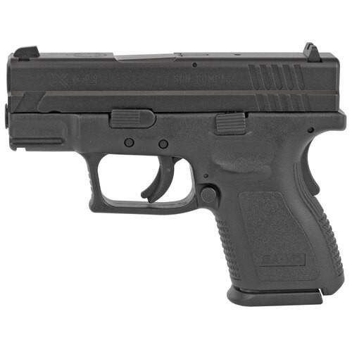 """Springfield XD9 Defender Sub Compact, 9MM, 3"""" Barrel, Polymer Frame, Black Finish, Fixed Sights, 13Rd Mag"""