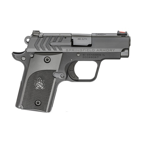 "Springfield 911 Alpha, 1911 Micro Compact, 380ACP, 2.7"" Barrel, Fiber-optic Front Sight, Black Nitride Finish, 6Rd Mag"