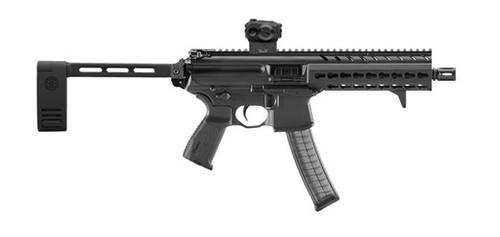 """Sig Sauer MPX AR-15 Pistol W/SIG Red Dot Sight 9mm 8"""" Barrel KeyMod Rail, Black, Pivoting Brace 30rd Mag"""