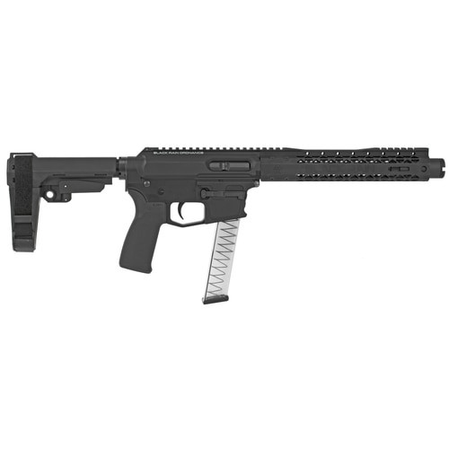 "Black Rain ION9, AR-15 Pistol 9MM, 8.75"" Barrel SBA3 Stabilizing Brace, M-LOK Rail 30rd Mag"