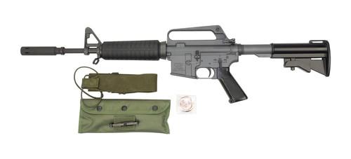 "Troy XM177E2 Commemorative AR-15 Carbine 223/556, 12.5"" Barrel, 4.5"" Moderator, Period Corect Kit, 20 and 30rd Mag"