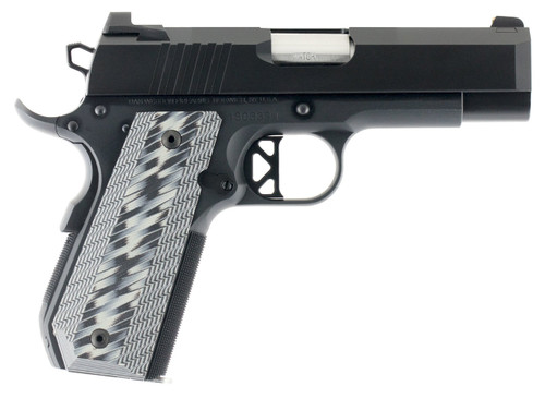 "CZ Enhanced Commander ECP  9mm Single 4"" 9+1 Tapered G10 Grip Black Forged Aluminum Frame Duty Finish Stainless Steel Slide"