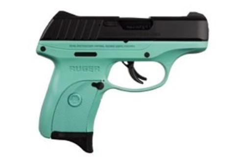 "Ruger EC9S, 9mm, 3.12"", Turquoise Frame, 7rd"