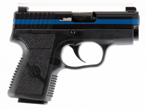 "Kahr Pm9 Thin Blue Line, 9mm, 3.1"" Barrel, 7rd, Black Polymer Grip"