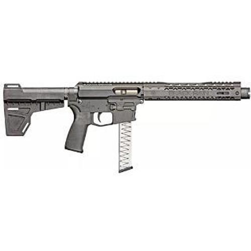 """Black Rain ION 9 AR-15 Pistol, 9mm, 8.75"""" Barrel, KAK Shockwave Blade Brace, Glock Magazine"""