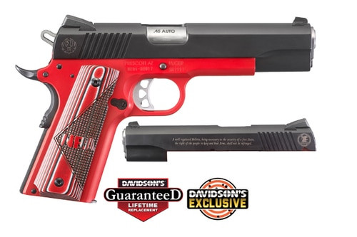 "Ruger SR1911 NRA Special Edition 45 ACP 5"" Barrel Black Nitride Slide with NRA Logo 7rd & 8rd Mag"