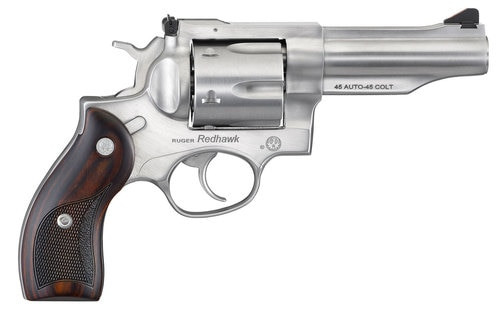 "Ruger Redhawk, 45 ACP / .45 Colt, 4.2"" Barrel, 6rd, Satin Stainless, Wood Grips"
