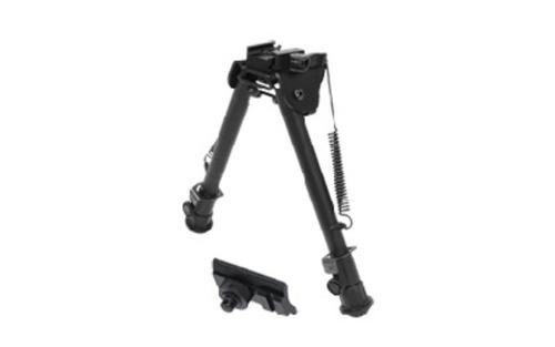 "Leapers, Inc. - UTG Tactical Op Bipod, Fits Picatinny or Weaver Rail, 8"" - 12.4"", with QD Lever Mount, Black"