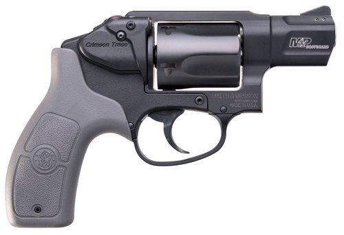 """Smith & Wesson Bodyguard 38 Crimson Trace MA Compliant, .38 Special +P, 1.875"""", 5rd, Gray Grips, Black Frame/Cylinder"""