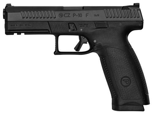 """CZ P-10 Full Size, 9mm, 4.5"""" Barrel, 19rd, Night Sights, Black"""