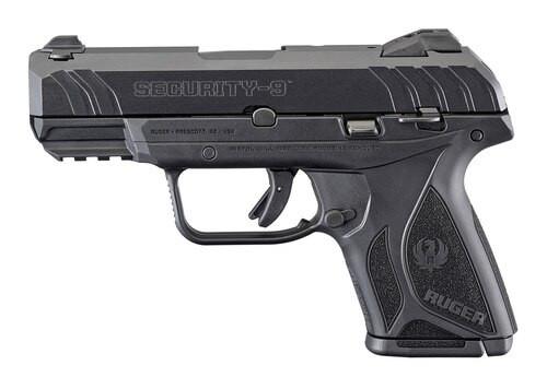 """Ruger Security 9, 9mm, 3.42"""" Barrel, Drift Adjustable Sights, Black, 10rd Mag"""