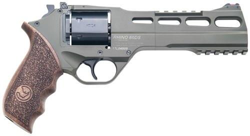 """Chiappa Firearms Rhino 60DS, .357 Mag, 6"""" Barrel, 6rd, Walnut Grip, OD Green"""