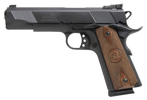"Iver Johnson 1911 Eagle, 45 ACP, 5"", 8rd, Walnut Grips, Black"