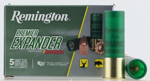 "Remington Ammo Premier 12 Ga, 3"", 437gr Sabot Slug Shot, 5rd/Box"
