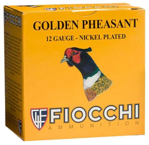 """Fiocchi Golden Pheasant 12 Ga, 3"""", 1-3/4oz, 6 Shot, 25rd/Box"""