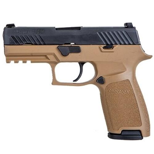 "SIG P320 Copperhead, 9mm, 3.9"", 17rd, Coyote Tan Grips, Nitron Slide"