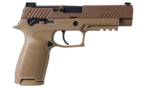 "SIG P320 M-17, 9mm, 4.7"", 17rd, SIGLITE NS, Coyote Tan"