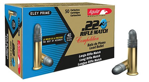 Aguila Match Competition 22 LR, 40gr, LRN, 1080 FPS, 50rd Box