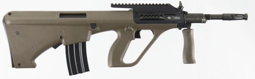 """Steyr AUG A3 M1 with Extended Rail Semi-Automatic 223 Remington/5.56 NATO 16.375"""" Barrel, Polymer Bullpup Olive DrabGreen Stock Black, 30rd"""