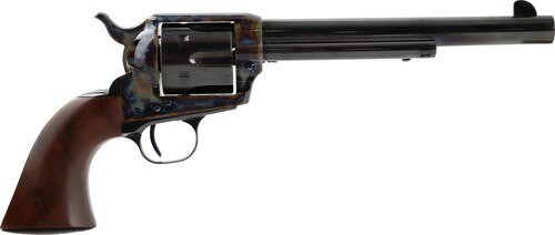 "Standard Mfg Single Action Revolver 45 Colt 7.5"" Barrel, Blue/Case Hardened, Walnut Grips"